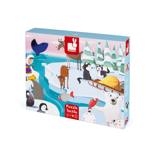 Janod JANOD TACTILE PUZZLE LIFE ON THE ICE 20 PIECES