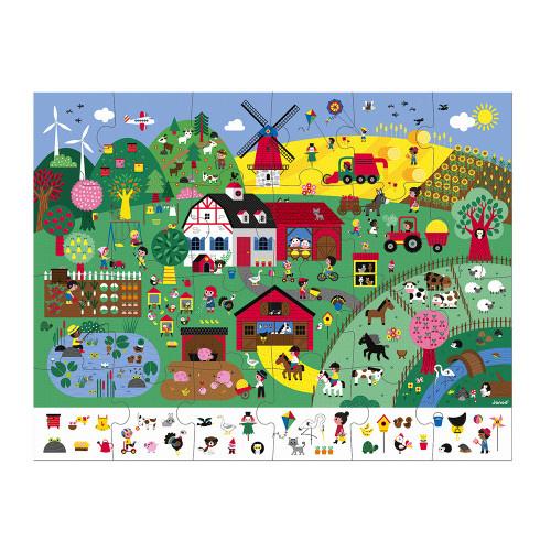 Janod JANOD OBSERVATION PUZZLE THE FARM 24 PCS