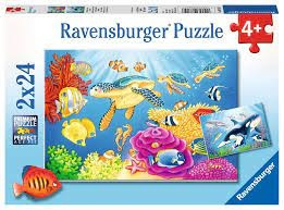 Ravensburger Ravensburger - Colourful Underwater World Puzzle 2x24 pieces