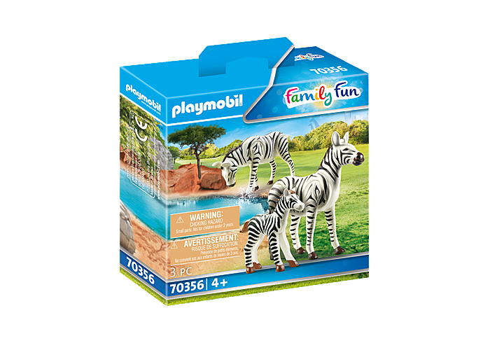 Playmobil PLAYMOBIL Zebras with Foal 70356