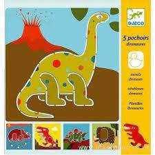 Djeco Dinosaurs Stencils by Djeco