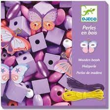 Djeco Djeco 09810 Perles en bois - Papillons