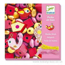 Djeco Djeco 09809 Perles en bois - Oiseaux