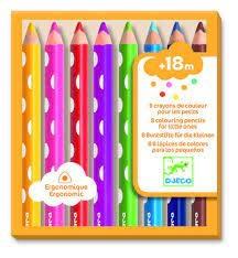 Djeco Djeco 09004 8 crayons pour les petits
