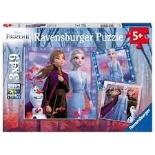 Ravensburger Puzzle 3/49pc Frozen 2 Le voyage commence