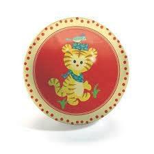 Djeco DJECO BALL 12CM TIGER & LION