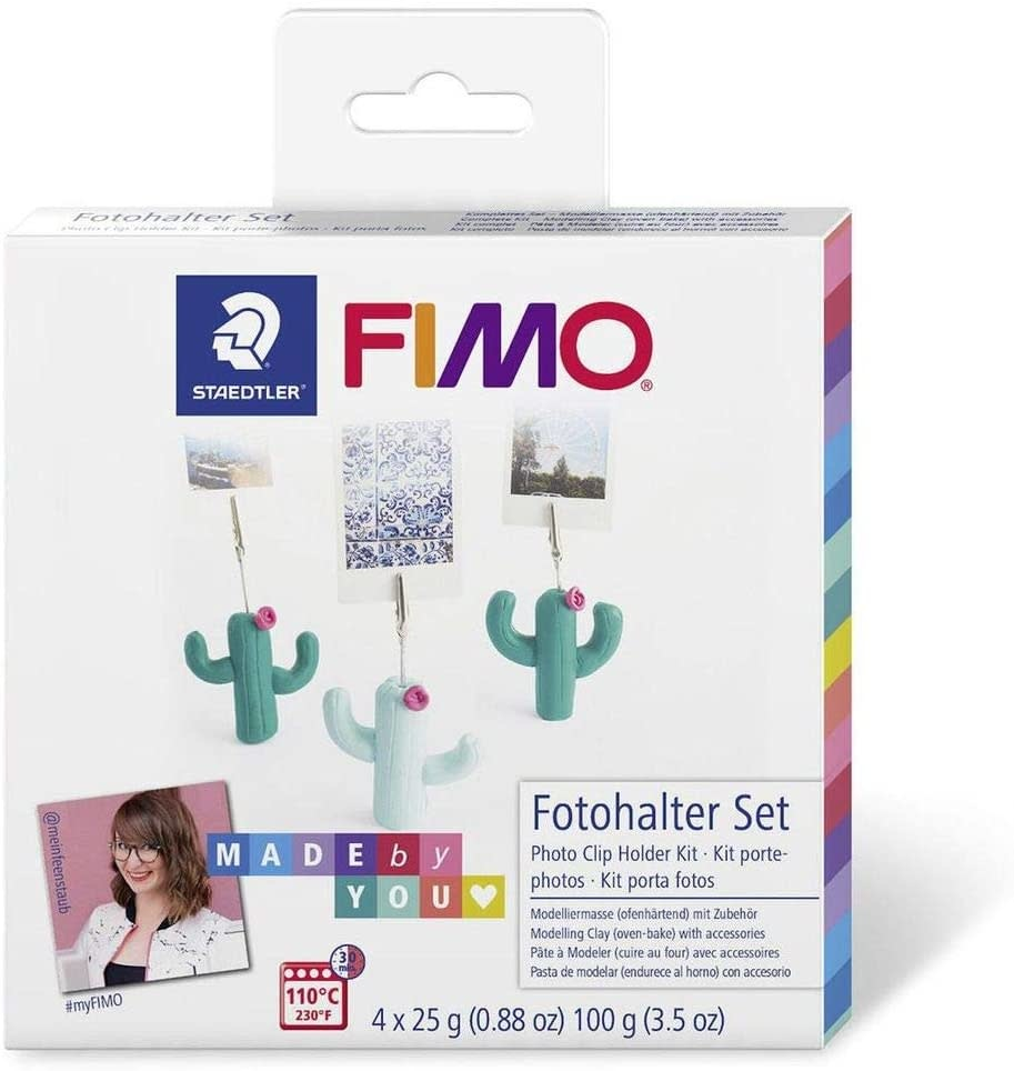 staedtler Fimo soft - Cactus photo holder