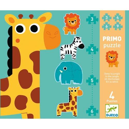 Djeco DJeco 07135 Primo Pz - Dans la jungle 3,4,5,6pcs