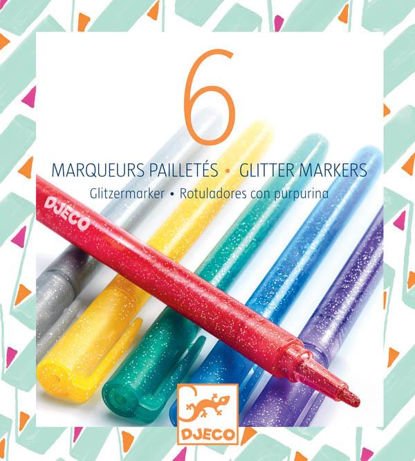Djeco Djeco 08871 - 6 Marqueurs pailletes