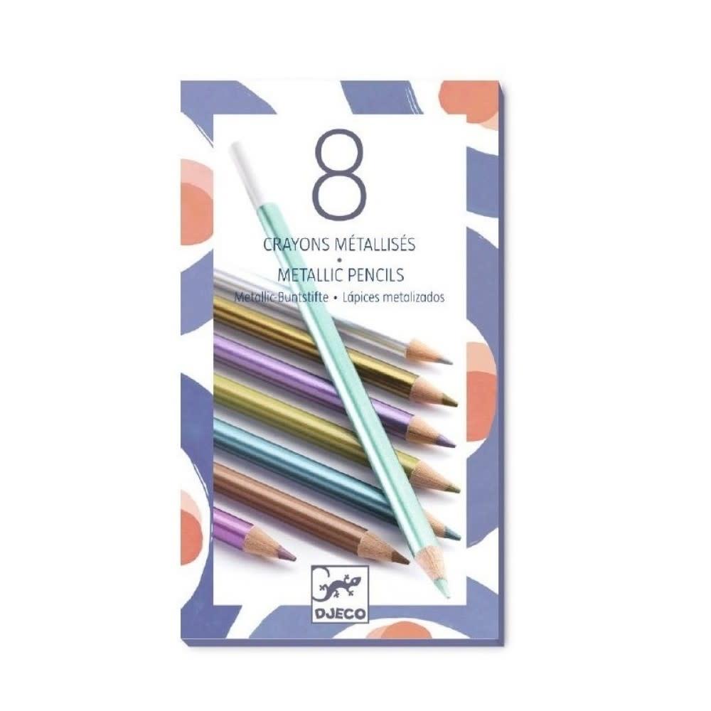 Djeco Djeco 09753 8 metallic pencils