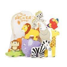 Le Toy Van Le Toy Van Petilou wooden stacklable africa animals