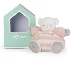 Kaloo CHUBBY BEAR SOFT TOY 25 CM / 9.8'', PEACH & CREAM