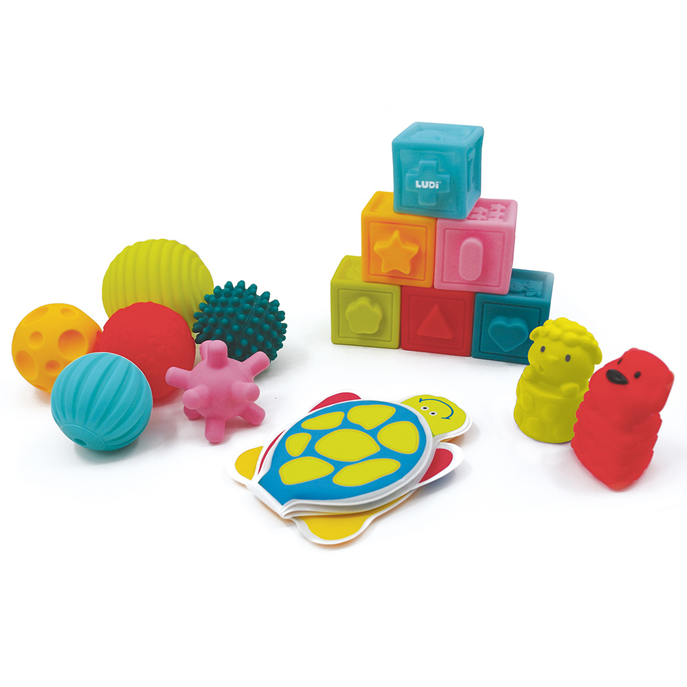 ludi LUDI - Learning Box (Book, cubes, balls)