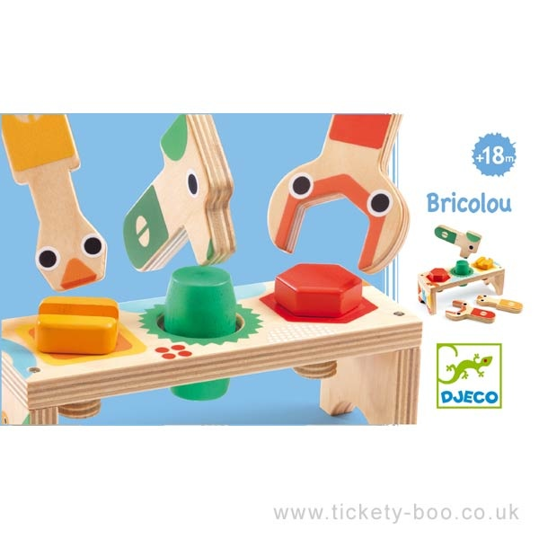 Djeco Bricolou Wood Tool Set by Djeco