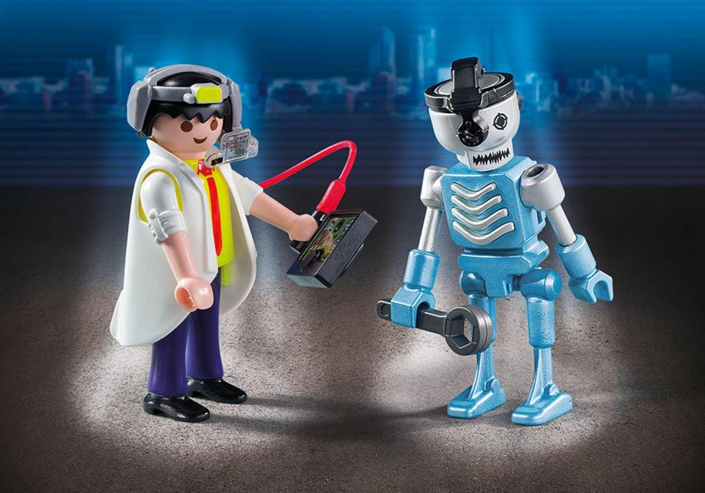 Playmobil Playmobil 6844 Scientist with Robot