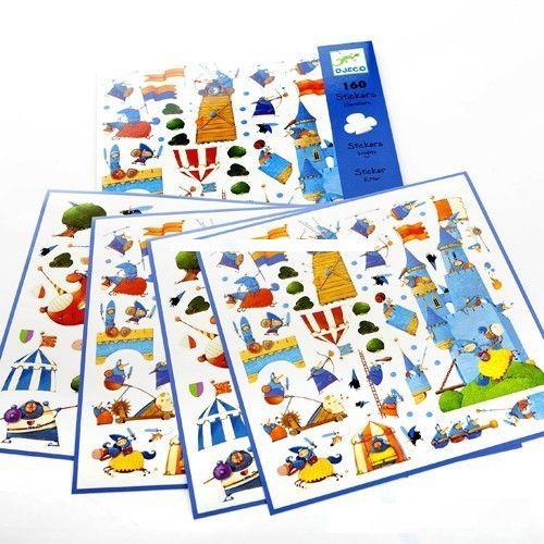 Djeco 08831 - 160 Stickers Chevaliers
