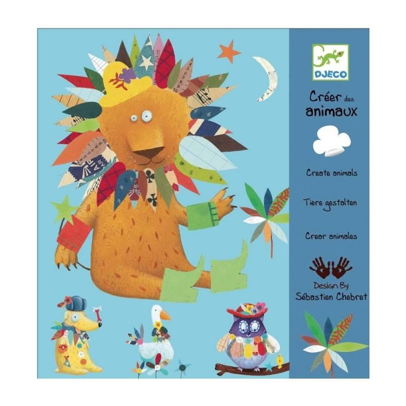 Djeco Djeco 08932 - Animals - Create with stickers