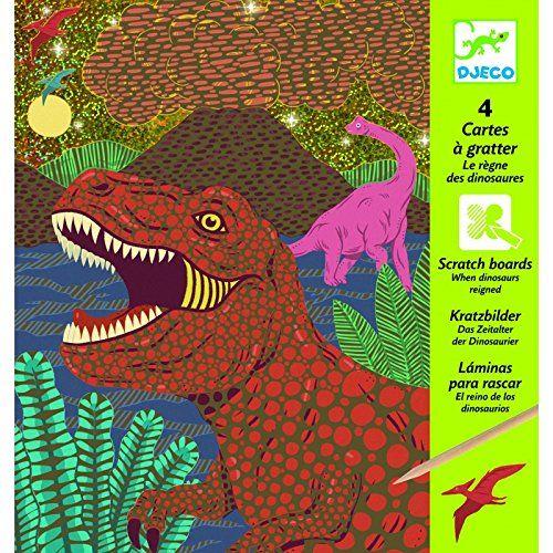 Djeco Djeco 09726 - When Dinosaurs Reigned - Scratch Cards