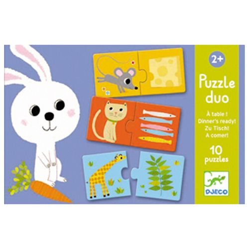 Djeco Djeco 08166 - Puzzle duo / Dinner's ready!