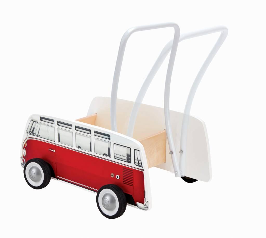 Hape Hape E0379 CLASSICAL BUS T1 WALKER (RED)