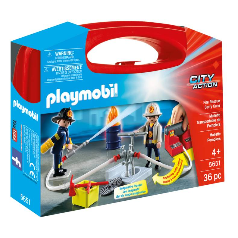 Playmobil Playmobil 5651 Fire Rescue Carry Case