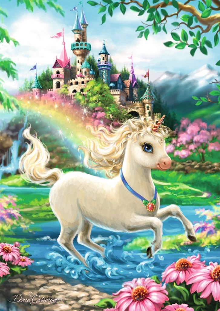 Ravensburger Ravensburger 08765 Unicorn Castle Puzzle 35 pcs