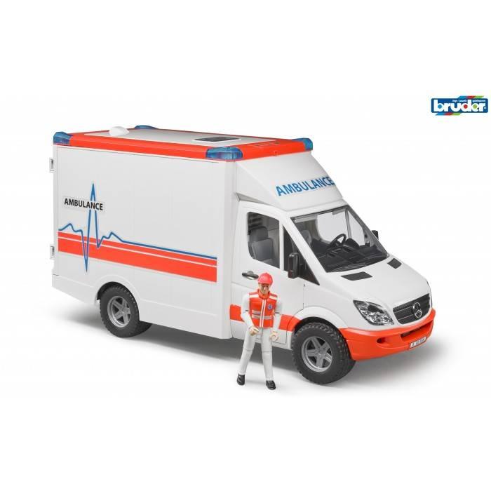Bruder Bruder 02536 Ambulance Sprinter avec conducteur