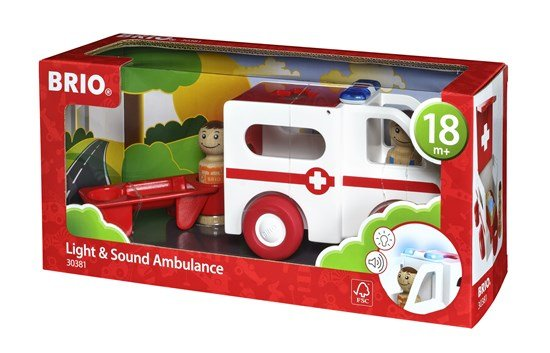 Brio BRIO 30381 - My Home Town - Light and Sound Ambulan