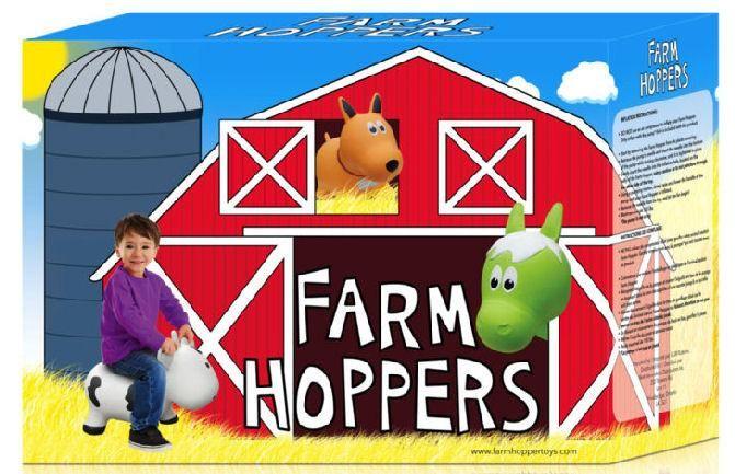 Farm Hoppers FARM HOPPERS Animal Sauteur FHA1201 - Cheval brun