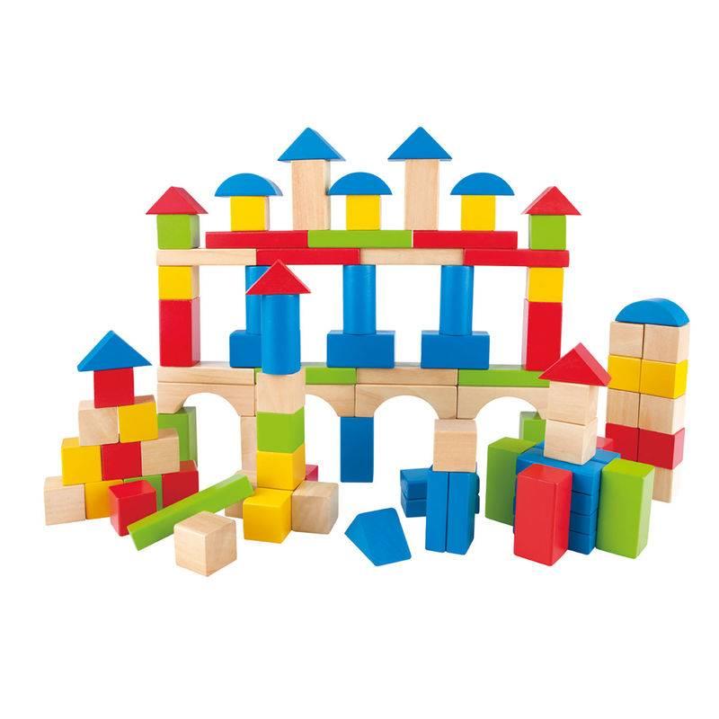 Hape BUILD UP AND AWAY BLOCKS 100pcs