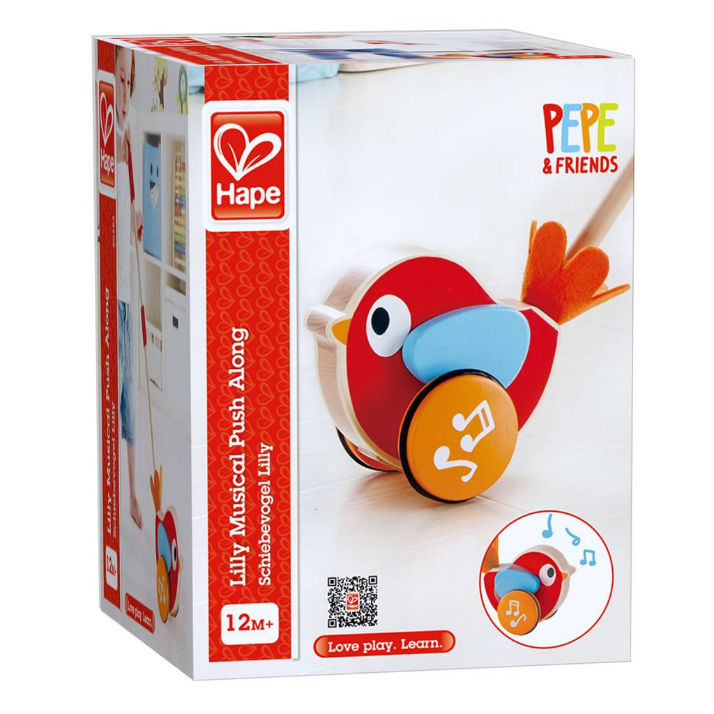 Hape LILLY MUSICAL PUSH ALONG - Lilly e0353