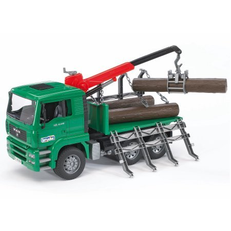 MAN Timber truck with loading crane