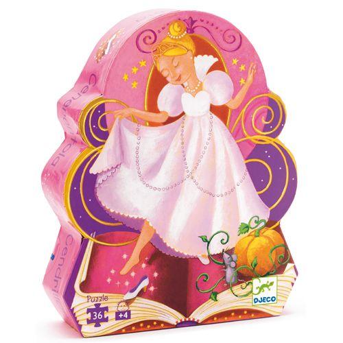 Djeco Djeco DJ07232 Silhouette Puzzle / Cinderella / 36 pcs