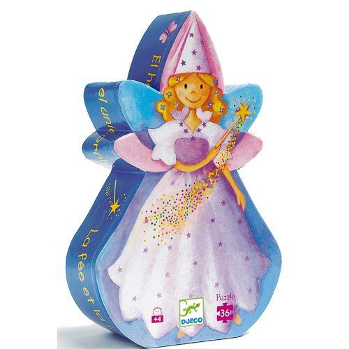 Djeco Djeco 07225Silhouette Puzzle / Fairy / 36 pcs