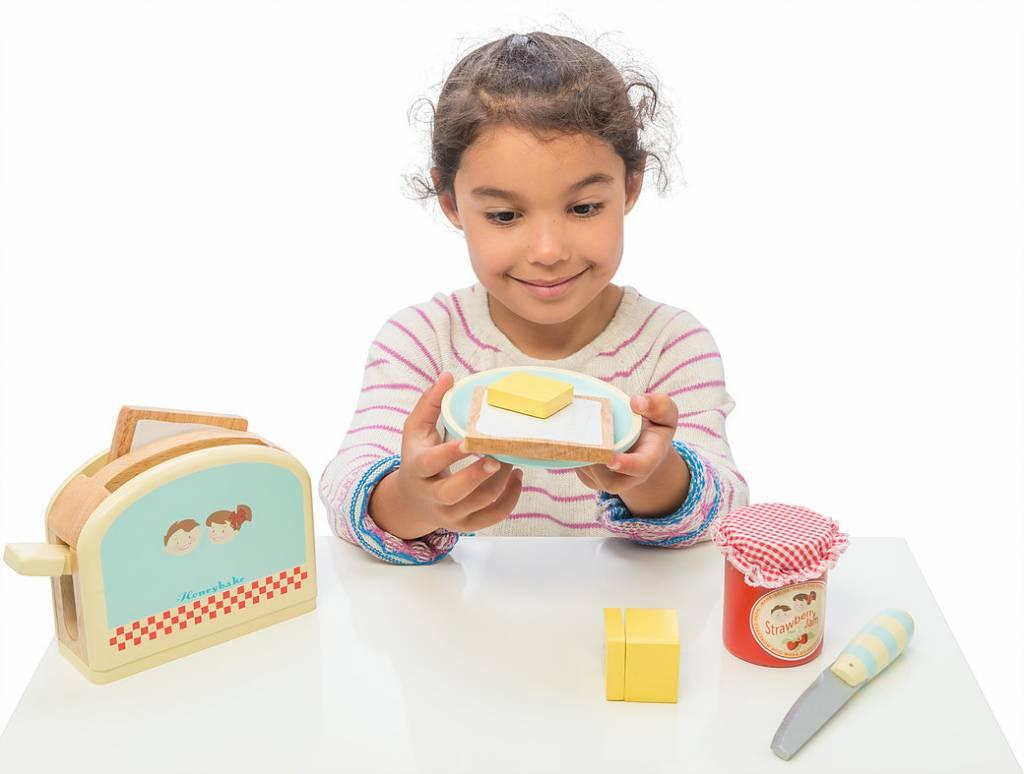 Le Toy Van Le Toy Van TV287 - Toaster et set de petit déjeuner