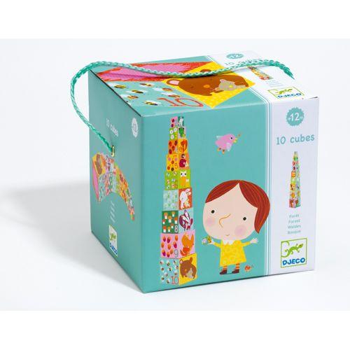 Djeco Djeco 08507 10 cubes Animaux de la foret