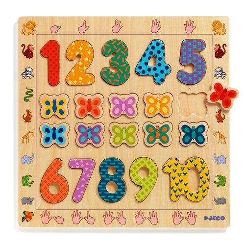 Djeco Djeco 01801 Wooden Puzzle / 1 to 10 / 20 pcs
