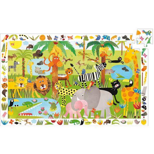Djeco Djeco 07590  Observation puzzle / Jungle / 35 pcs