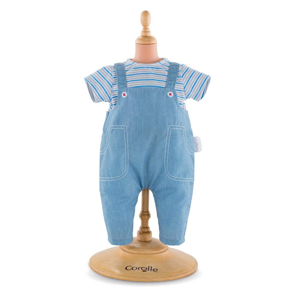 Corolle Corolle FPP36 Striped T-Shirt and Overalls 36cm