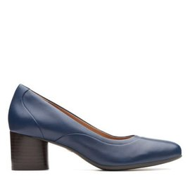 Clarks UN COSMO STEP NAVY LEATHER