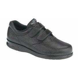 ME TOO BLACK black leather velcro shoe