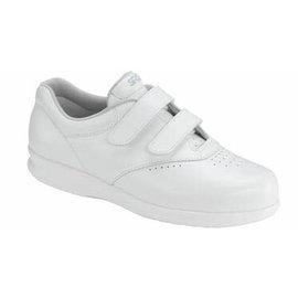 ME TOO WHITE white leather velcro shoe