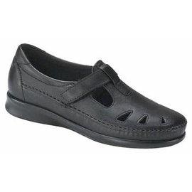 ROAMER BLACK sas women black shoe velcro
