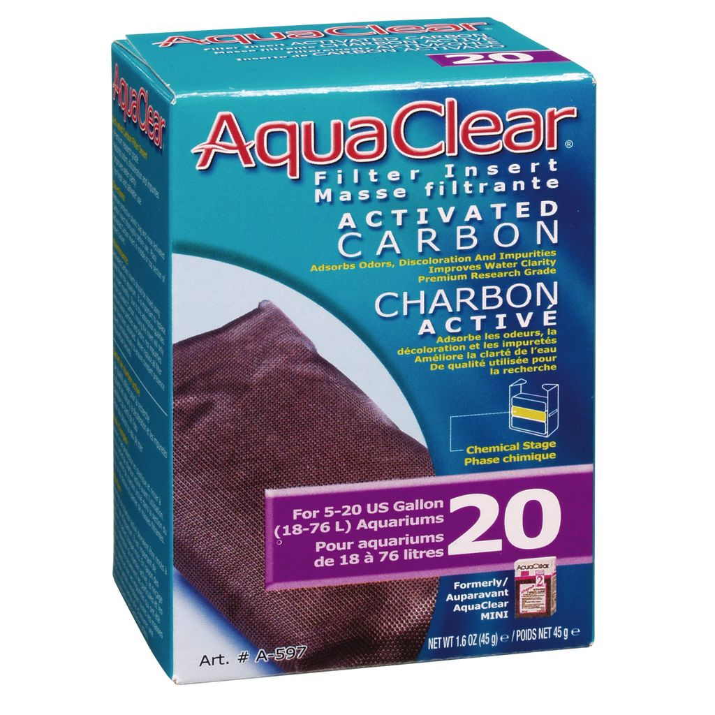 Aquaclear Aquaclear 20 single activated carbon replacement