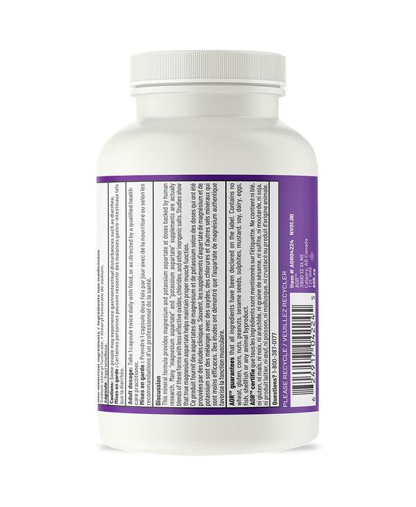 AOR - Magnesium Potassium Aspartates - 120 V-Caps