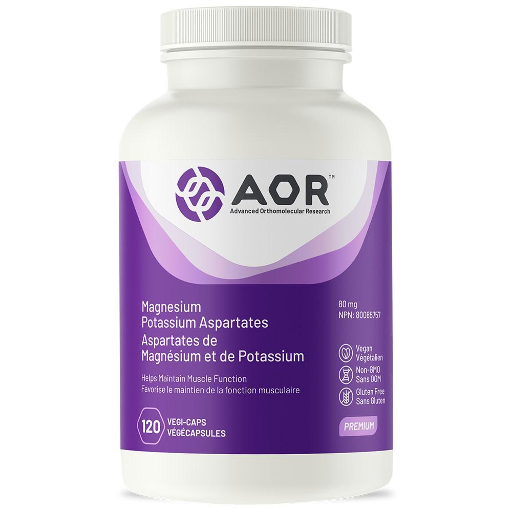 AOR AOR - Magnesium Potassium Aspartates - 120 V-Caps