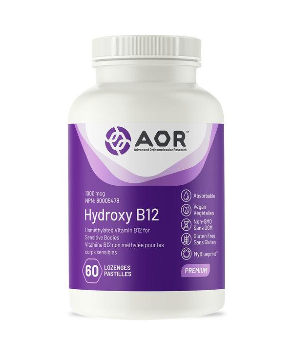 AOR - Hydroxy B12 - 60 Lozenges