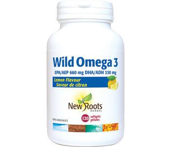 New Roots - Wild Omega 3 - Lemon Flavour - 120 SG