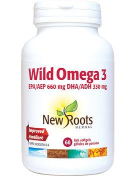 New Roots New Roots - Wild Omega 3 EPA 660mg DHA 330mg - 60 SG