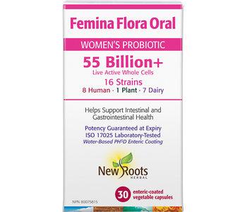 New Roots - FeminaFlora Oral 55Billion+ - 30 V-Caps